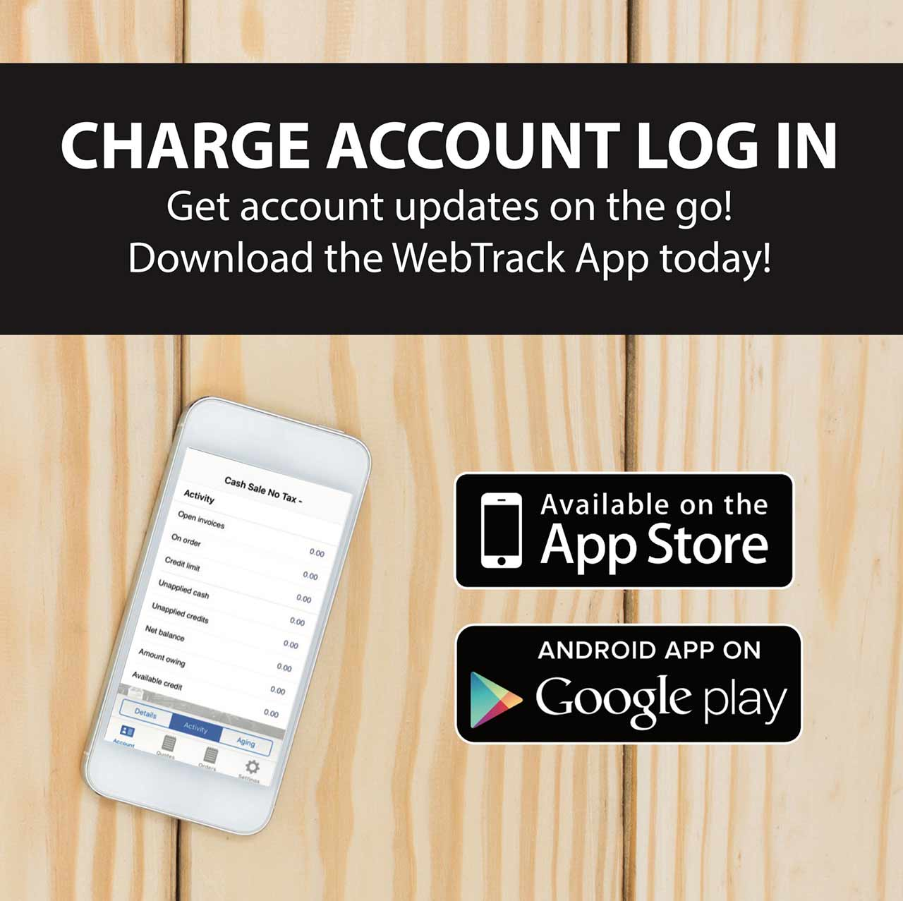 Charge Account Log In