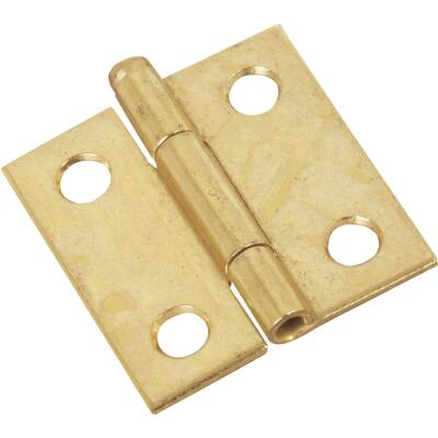 National 1-1/2 In. Brass Loose-Pin Narrow Hinge (2-Pack)