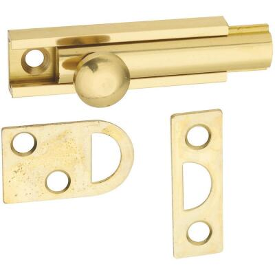 National Gallery Series 2 In. Polished Brass Door Surface Bolt