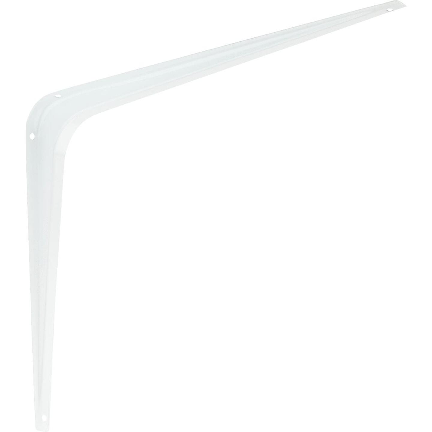 National 211 10 In. D. x 12 In. H. White Steel Shelf Bracket Image 1