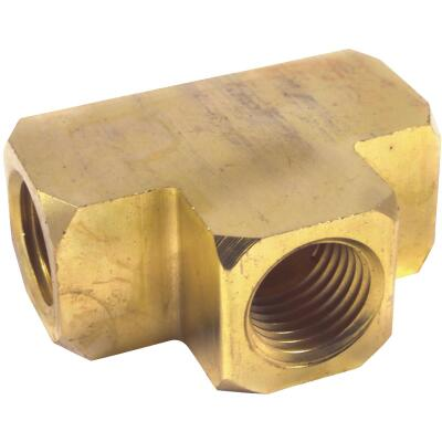Forney 1/4 In. NPT Brass Female Air Hose Tee