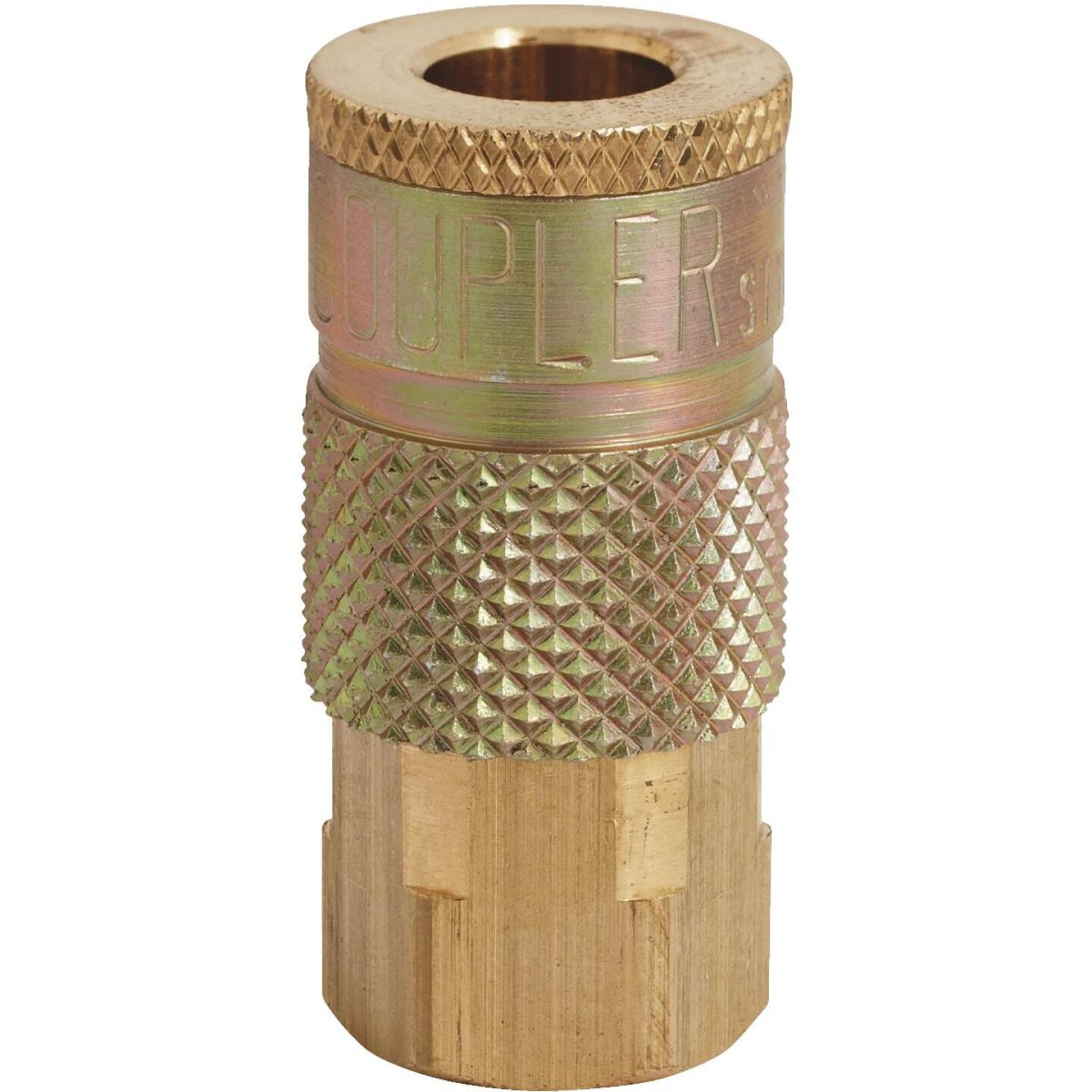 Milton Tru-Flate 1/4 In. FPT T-Style Brass Coupler Image 1