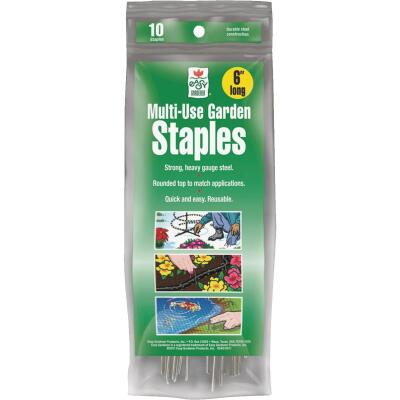 Easy Gardener Steel 6 In. Landscape Fabric Staple (10-Pack)