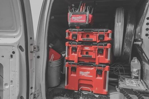 PROTECT YOUR TOOLS WITH MILWAUKEE'S PACKOUT MODULAR STORAGE SYSTEM